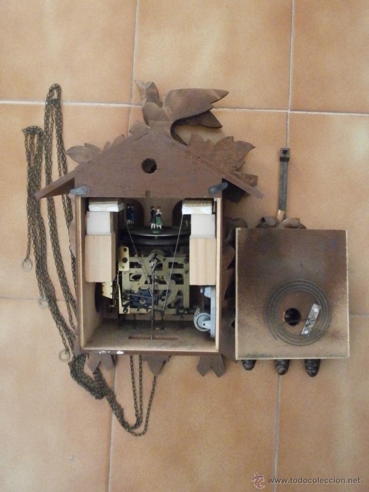 Relojes de pared: Reloj antiguo pared alemán cucu péndulo 3 pesas con campanadas canto cucu y melodía músical con Vals - Foto 7 - 246475070