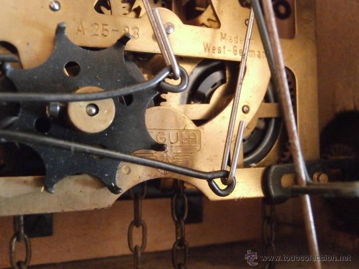 Relojes de pared: Reloj antiguo pared alemán cucu péndulo 3 pesas con campanadas canto cucu y melodía músical con Vals - Foto 9 - 246475070