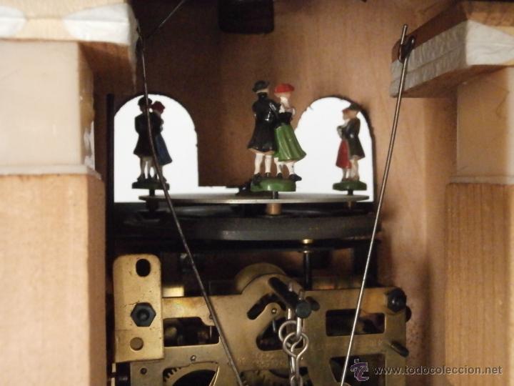 Relojes de pared: Reloj antiguo pared alemán cucu péndulo 3 pesas con campanadas canto cucu y melodía músical con Vals - Foto 10 - 246475070