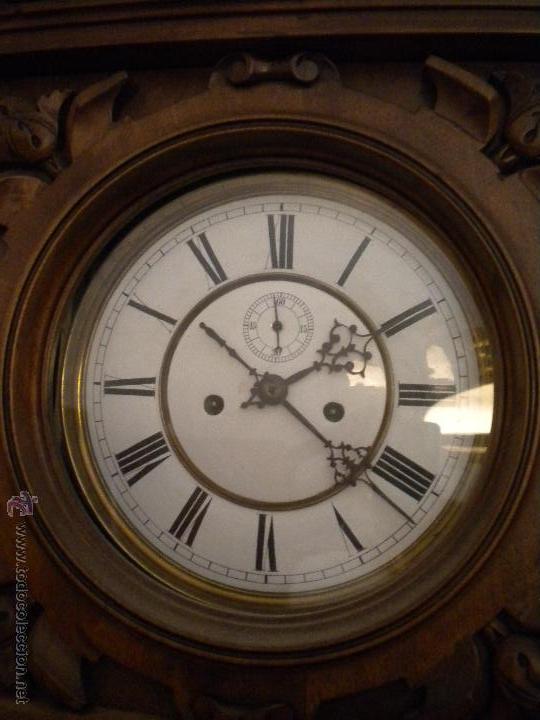 Relojes de pared: reloj alfosino de pared,restaurado, altura120 ancho 52 cm - Foto 4 - 42273986