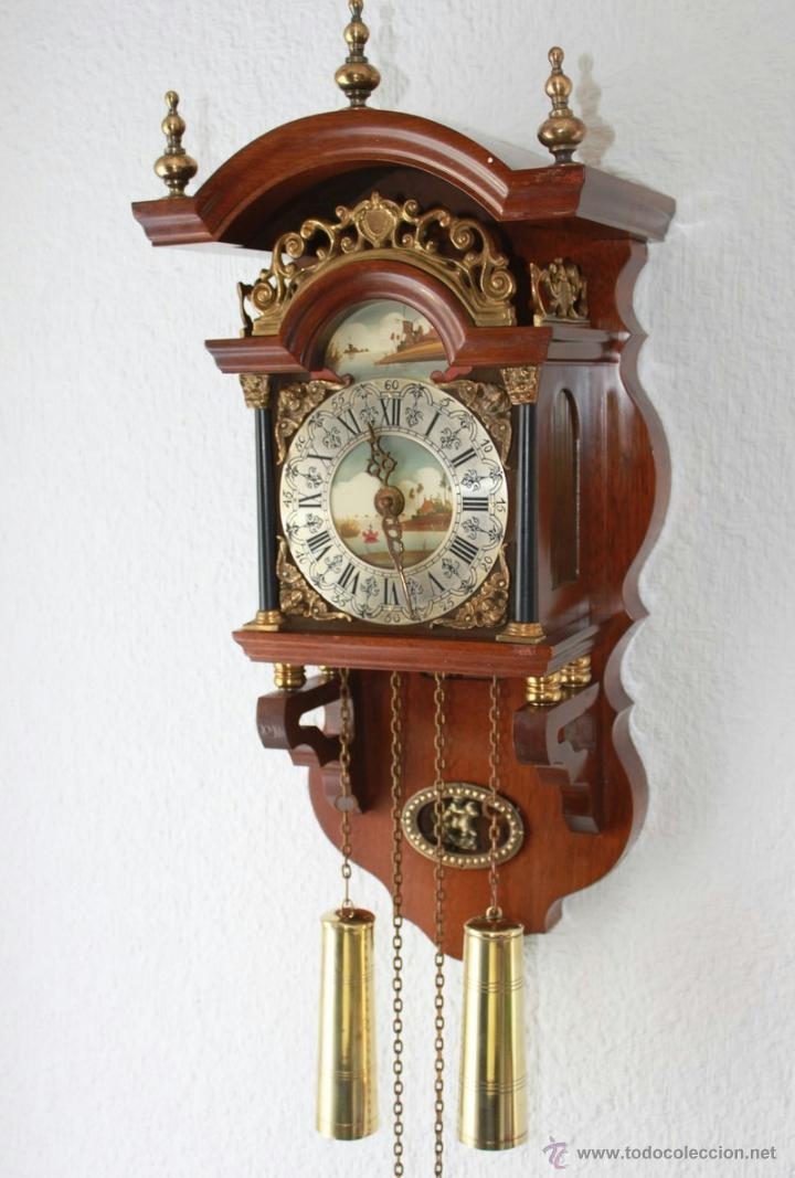 Antiquo reloj de pared salander con pintado a comprar for Reloj de pared antiguo