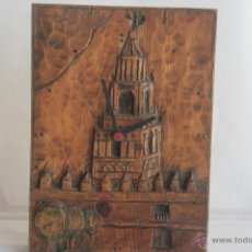 Relojes de pared: BONITO RELOJ DE MADERA. Lote 42448268