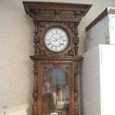 Relojes de pared: RELOJ ALFOSINO DE PARED,RESTAURADO, ALTURA120 ANCHO 52 CM. Lote 42273986