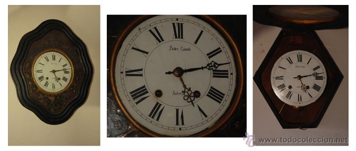 Relojes de pared: Reloj Isabelino con incrustaciones de nácar - Foto 2 - 42596322