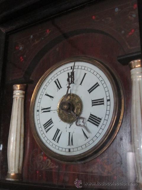 Precioso y antiguo reloj selva negra con column comprar - Relojes pared antiguos ...