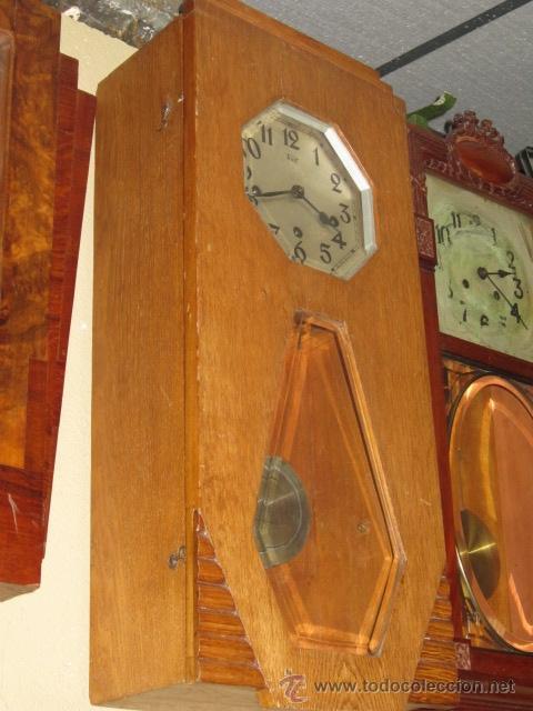 Relojes de pared: Reloj de pared modernista con carillon. En funcionamiento. - Foto 2 - 26804760