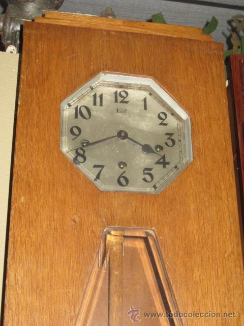 Relojes de pared: Reloj de pared modernista con carillon. En funcionamiento. - Foto 3 - 26804760