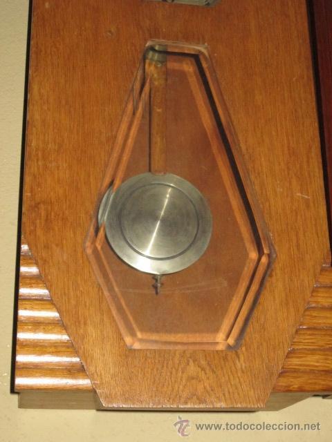 Relojes de pared: Reloj de pared modernista con carillon. En funcionamiento. - Foto 4 - 26804760