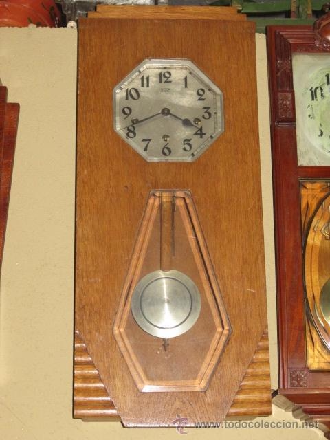 Relojes de pared: Reloj de pared modernista con carillon. En funcionamiento. - Foto 5 - 26804760