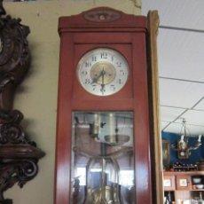 Relojes de pared: RELOJ REGULADOR VIENES ESTILO MODERNISTA CON MARQUETERÍA EN SU PARTE SUPERIOR.. Lote 30314268