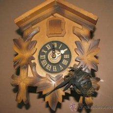 Relojes de pared: ANTIGUO RELOJ DE CUCO CUCU ALEMAN PARA RESTAURACION+ REGALO. Lote 36455035