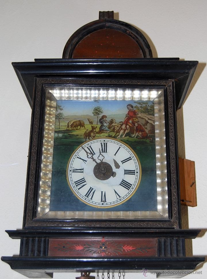 Relojes de pared: RELOJ DE PARED SELVA NEGRA SIGLO XIX, 6000-097 - Foto 2 - 43449097