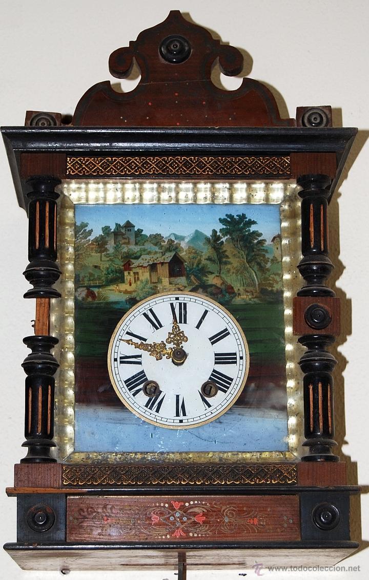 Relojes de pared: RELOJ DE PARED SELVA NEGRA SIGLO XIX, 6000-098 - Foto 2 - 43449160