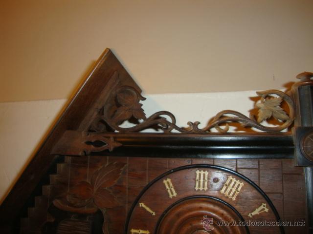 Relojes de pared: EXCELENTE RELOJ CUCU EN MADERA DE NOGAL, ORIGINAL FUNCIONA PERFECTO. - Foto 5 - 43599583