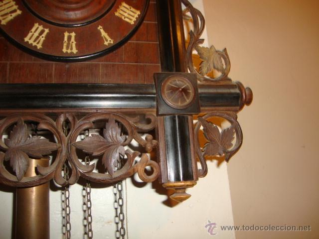 Relojes de pared: EXCELENTE RELOJ CUCU EN MADERA DE NOGAL, ORIGINAL FUNCIONA PERFECTO. - Foto 6 - 43599583