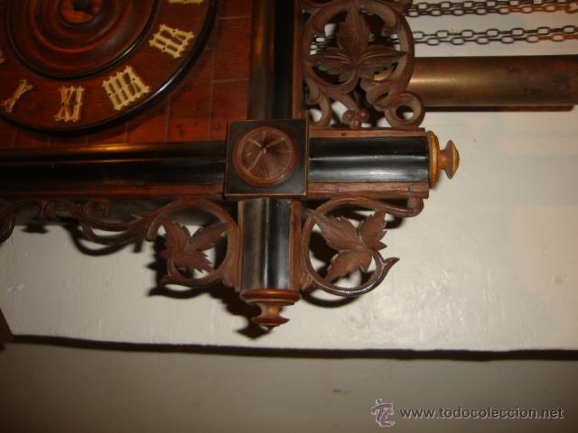 Relojes de pared: EXCELENTE RELOJ CUCU EN MADERA DE NOGAL, ORIGINAL FUNCIONA PERFECTO. - Foto 7 - 43599583