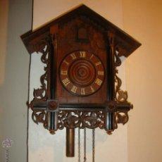 Relojes de pared: EXCELENTE RELOJ CUCU EN MADERA DE NOGAL, ORIGINAL FUNCIONA PERFECTO.. Lote 43599583