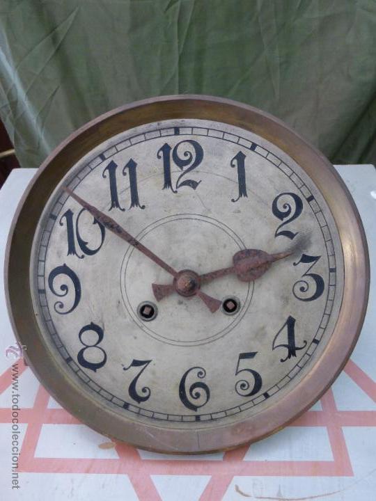 ANTIGUO RELOJ ALEMÁN DE PARED MARCA GUSTAV BECKER - PARA RESTAURAR (Relojes - Pared Carga Manual)