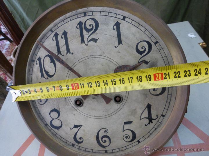 Relojes de pared: Antiguo reloj alemán de pared marca Gustav Becker - para restaurar - Foto 5 - 43727196
