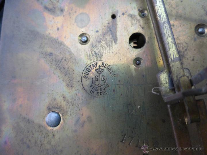 Relojes de pared: Antiguo reloj alemán de pared marca Gustav Becker - para restaurar - Foto 9 - 43727196