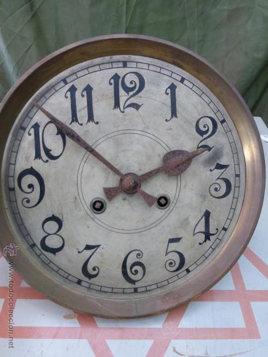 Relojes de pared: Antiguo reloj alemán de pared marca Gustav Becker - para restaurar - Foto 12 - 43727196
