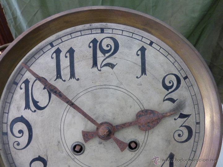 Relojes de pared: Antiguo reloj alemán de pared marca Gustav Becker - para restaurar - Foto 13 - 43727196