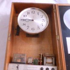 Relojes de pared: JOYA PARA COLECCIONISTAS. RARISIMO RELOJ ELECTRICO DE LA PHUC. SIN CHEQUEAR. Lote 43804222