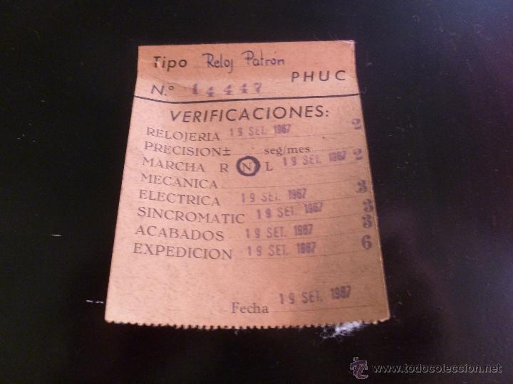 Relojes de pared: JOYA PARA COLECCIONISTAS. RARISIMO RELOJ ELECTRICO DE LA PHUC. SIN CHEQUEAR - Foto 7 - 43804222