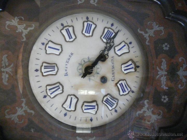 Relojes de pared: RELOJ DE PARED ISABELINO XIX-XX - 671 - Foto 2 - 43844644