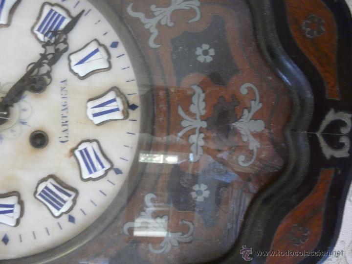 Relojes de pared: RELOJ DE PARED ISABELINO XIX-XX - 671 - Foto 4 - 43844644
