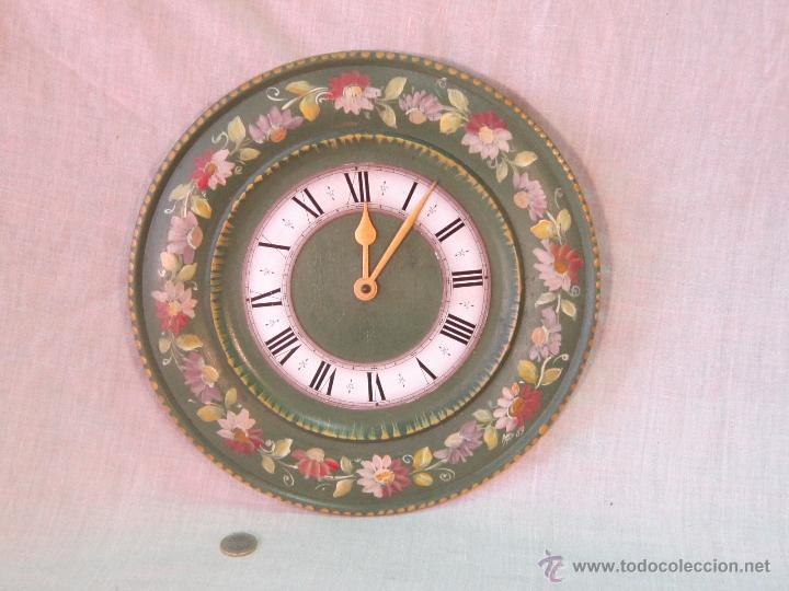 RELOJ DE PARED QUARTZ EN MADERA (Relojes - Pared Carga Manual)
