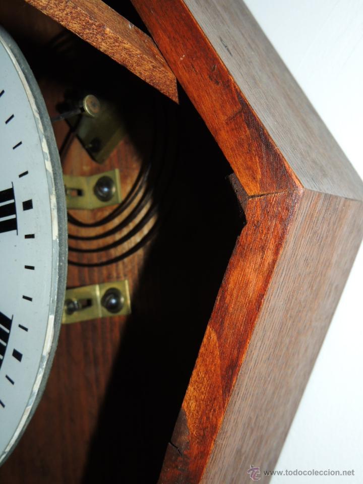 Relojes de pared: RELOJ DE PARED DE ROBLE EN BUEN ESTADO - Foto 3 - 43971011