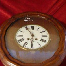 Relojes de pared: RELOJ DE PARED DE CARGA MANUAL. Lote 44210859
