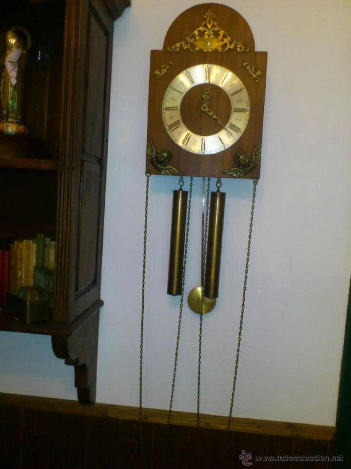 Reloj de pared a p ndulo y pesas comprar relojes for Relojes de pared antiguos de pendulo