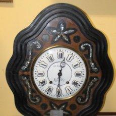 Relojes de pared: RELOJ OJO DE BUEY CON INCRUSTACIONES DE NÁCAR CHABROL S.XIX. Lote 44349783