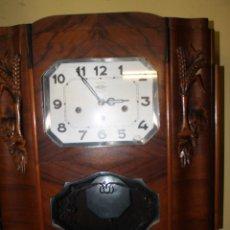 Relojes de pared: RELOJ ANTIGUO PARED 1930'S MODERNISTA FUNCIONA. Lote 44351337