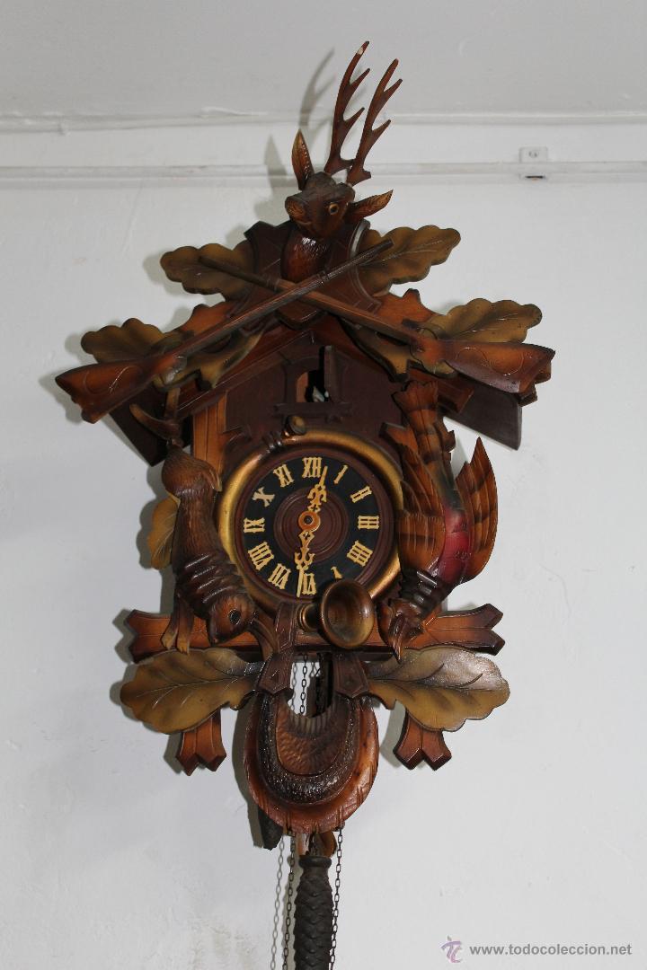antiguo reloj de cuco cucu alem n selva negra comprar