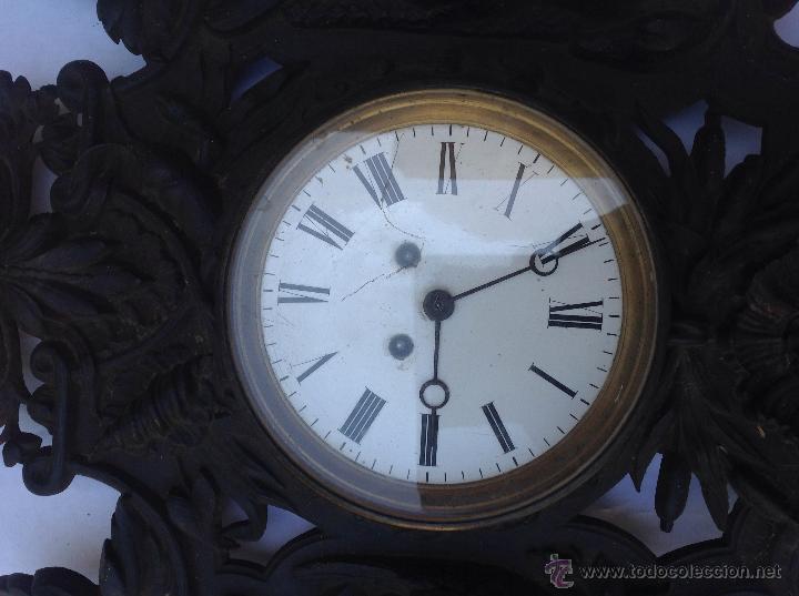 Relojes de pared: Reloj francés de hierro. sXIX - Foto 2 - 44842500