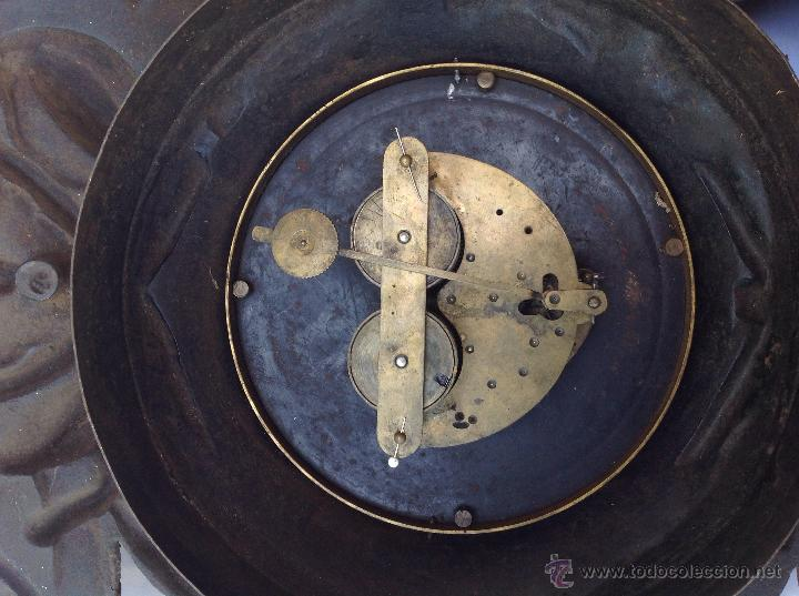 Relojes de pared: Reloj francés de hierro. sXIX - Foto 3 - 44842500