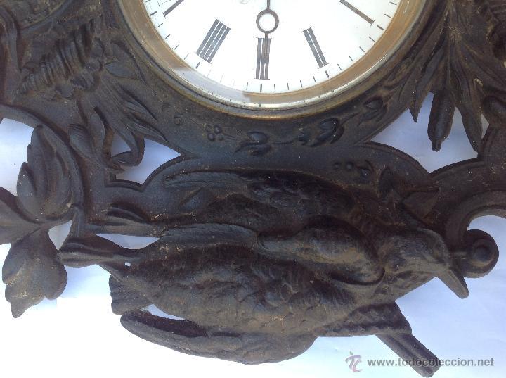 Relojes de pared: Reloj francés de hierro. sXIX - Foto 4 - 44842500