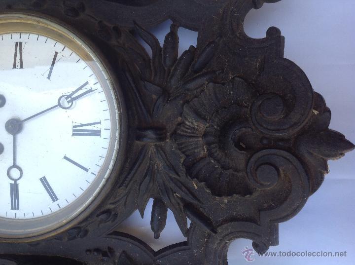 Relojes de pared: Reloj francés de hierro. sXIX - Foto 5 - 44842500