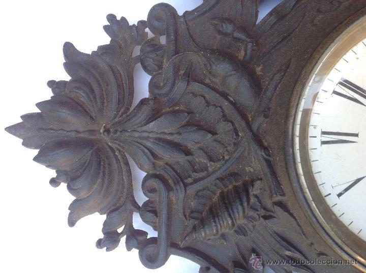 Relojes de pared: Reloj francés de hierro. sXIX - Foto 6 - 44842500