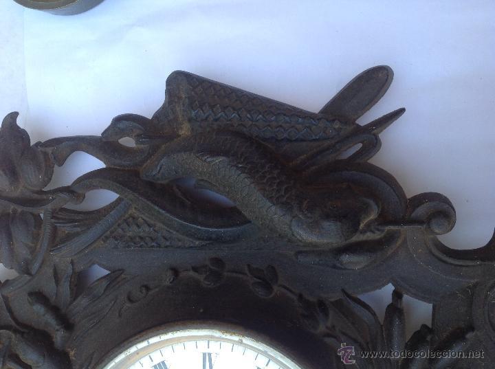 Relojes de pared: Reloj francés de hierro. sXIX - Foto 7 - 44842500
