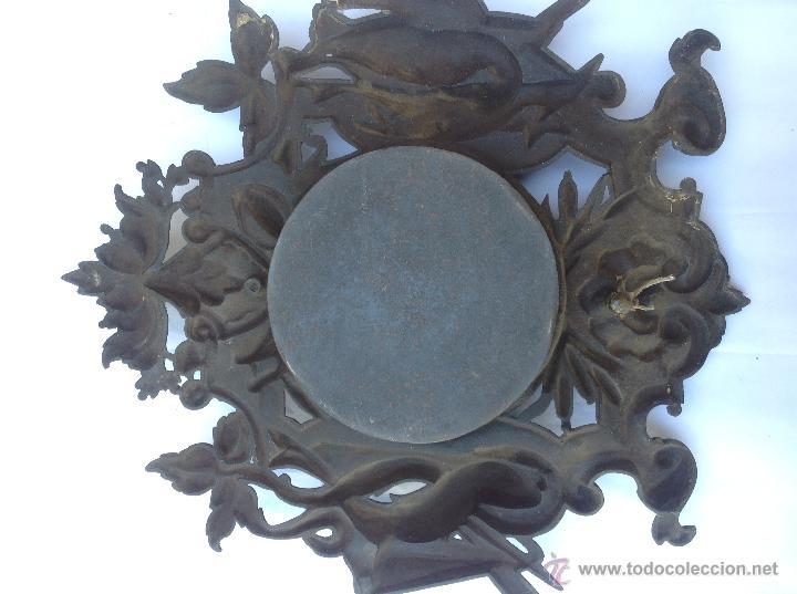 Relojes de pared: Reloj francés de hierro. sXIX - Foto 8 - 44842500