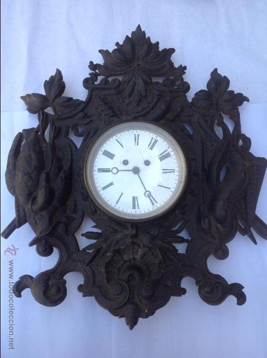 RELOJ FRANCÉS DE HIERRO. SXIX (Relojes - Pared Carga Manual)