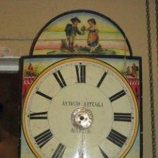 Relojes de pared: PRECIOSO RELOJ SELVANEGRA CON MOTIVOS POPULARES. ANTONIO ARTEAGA, MADRID.. Lote 45267826