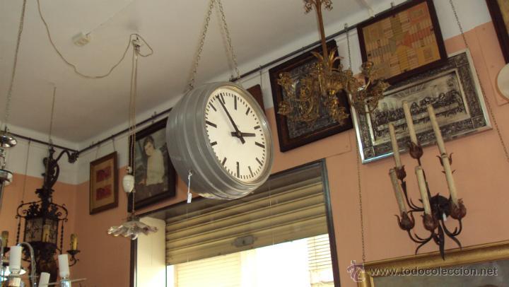Relojes de pared: Reloj Eléctrico de Estación marca Favag XIX - Doble Cara Visible - Foto 2 - 45301854