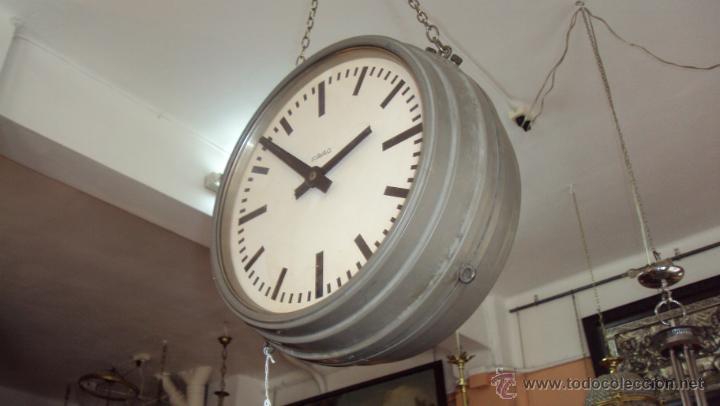 Relojes de pared: Reloj Eléctrico de Estación marca Favag XIX - Doble Cara Visible - Foto 3 - 45301854