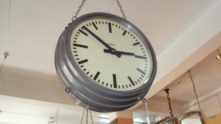 Relojes de pared: Reloj Eléctrico de Estación marca Favag XIX - Doble Cara Visible - Foto 4 - 45301854
