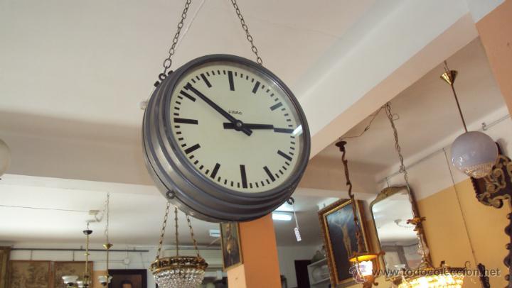 Relojes de pared: Reloj Eléctrico de Estación marca Favag XIX - Doble Cara Visible - Foto 5 - 45301854